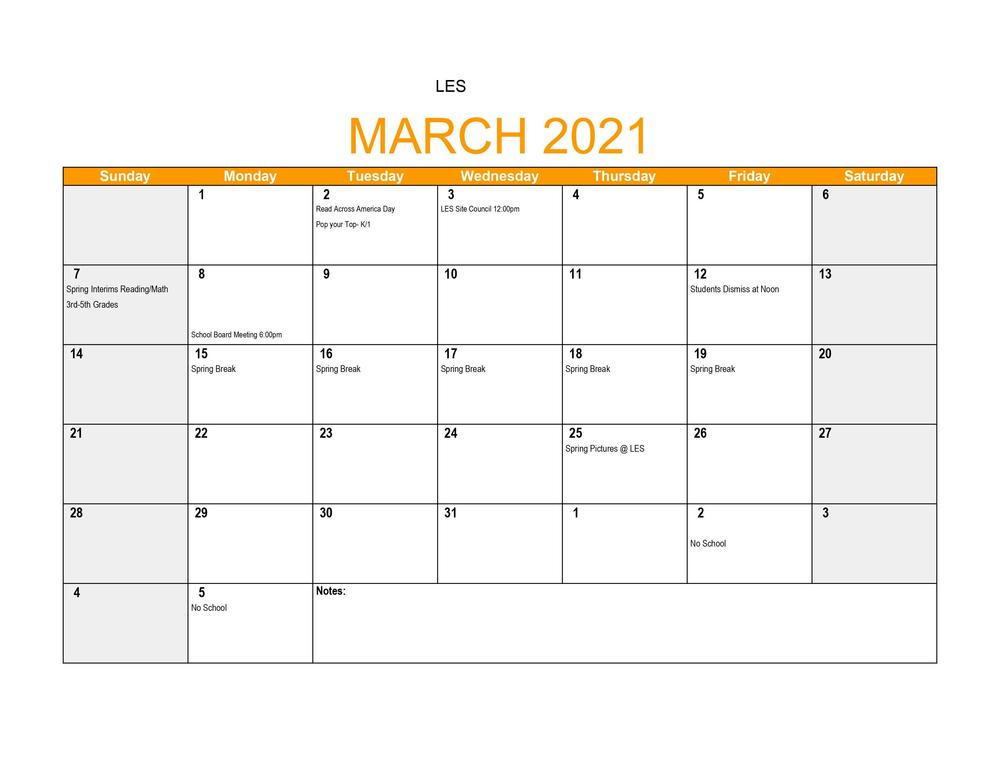 LES March Events