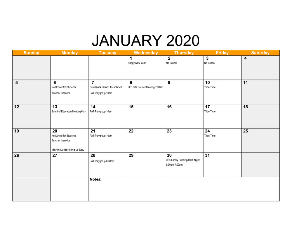 January Events at LES