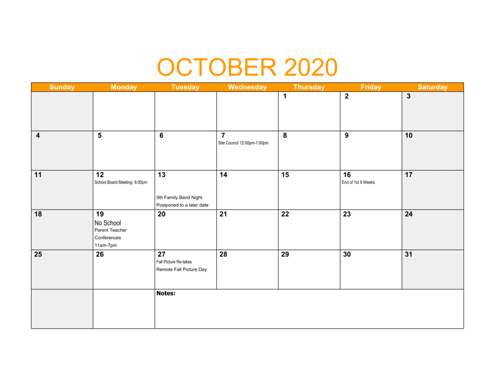 LES October Events
