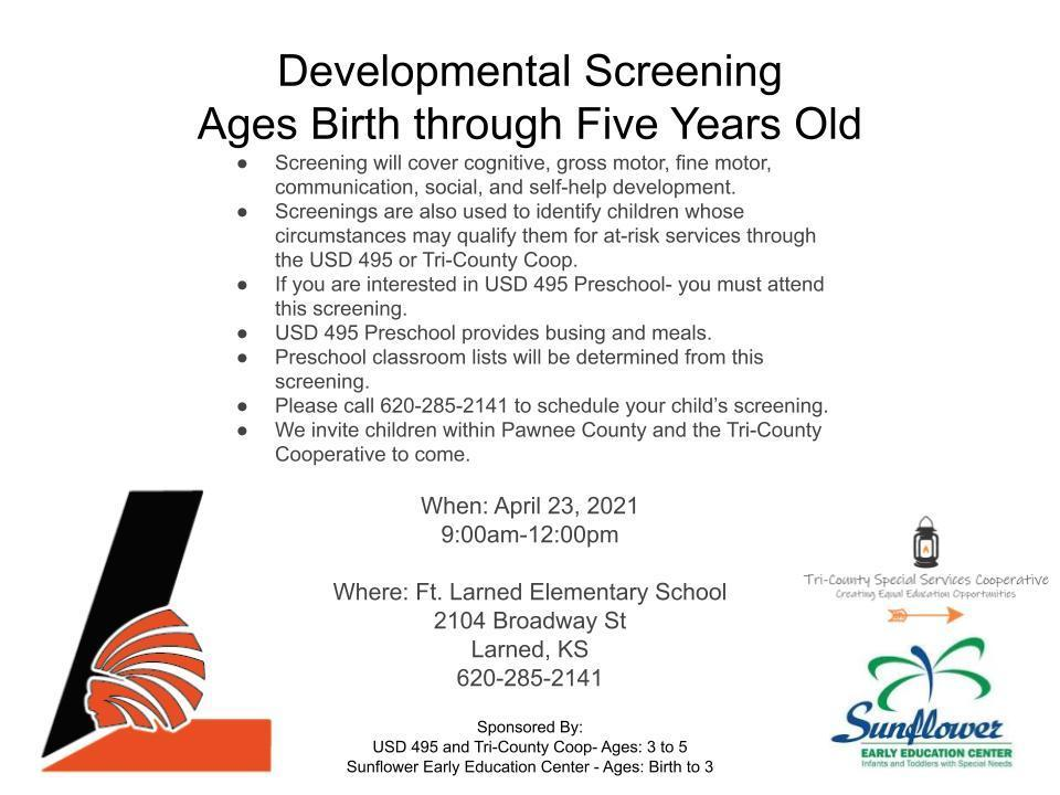 Birth to 5 Developmental Screening