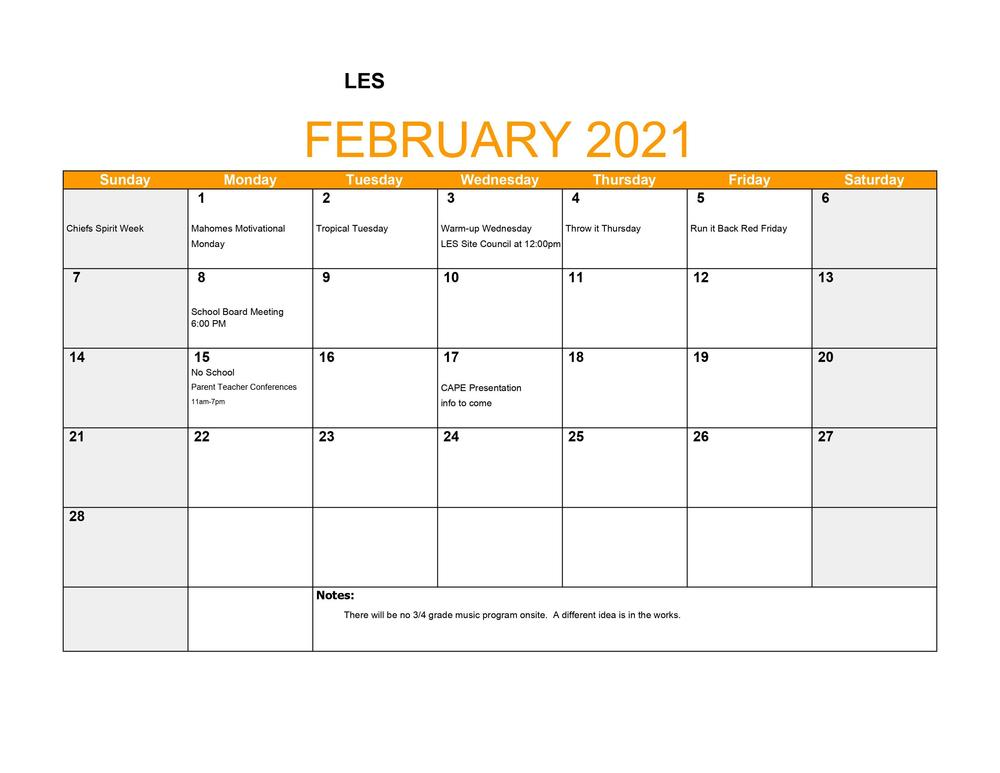 LES February Events