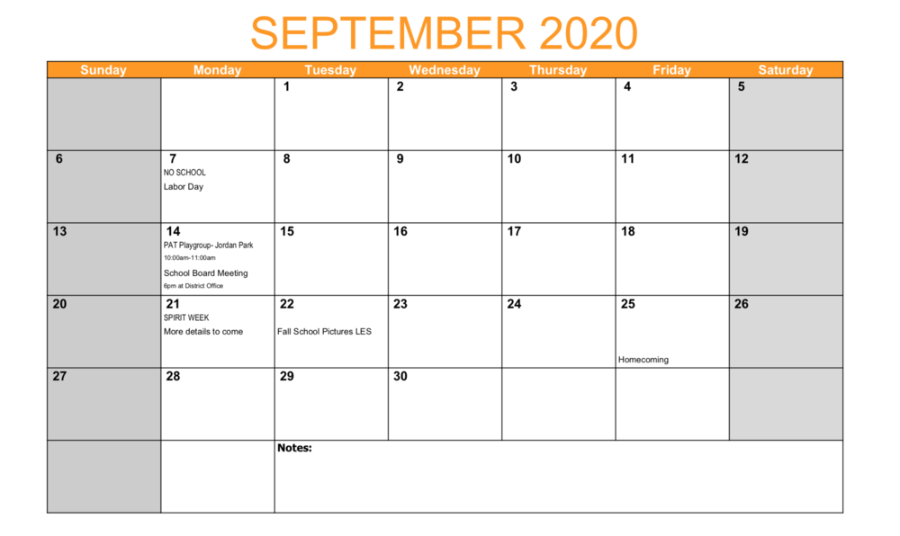 LES September Events