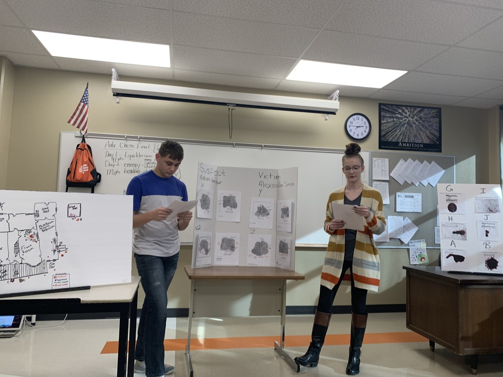 CSI students presenting evidence
