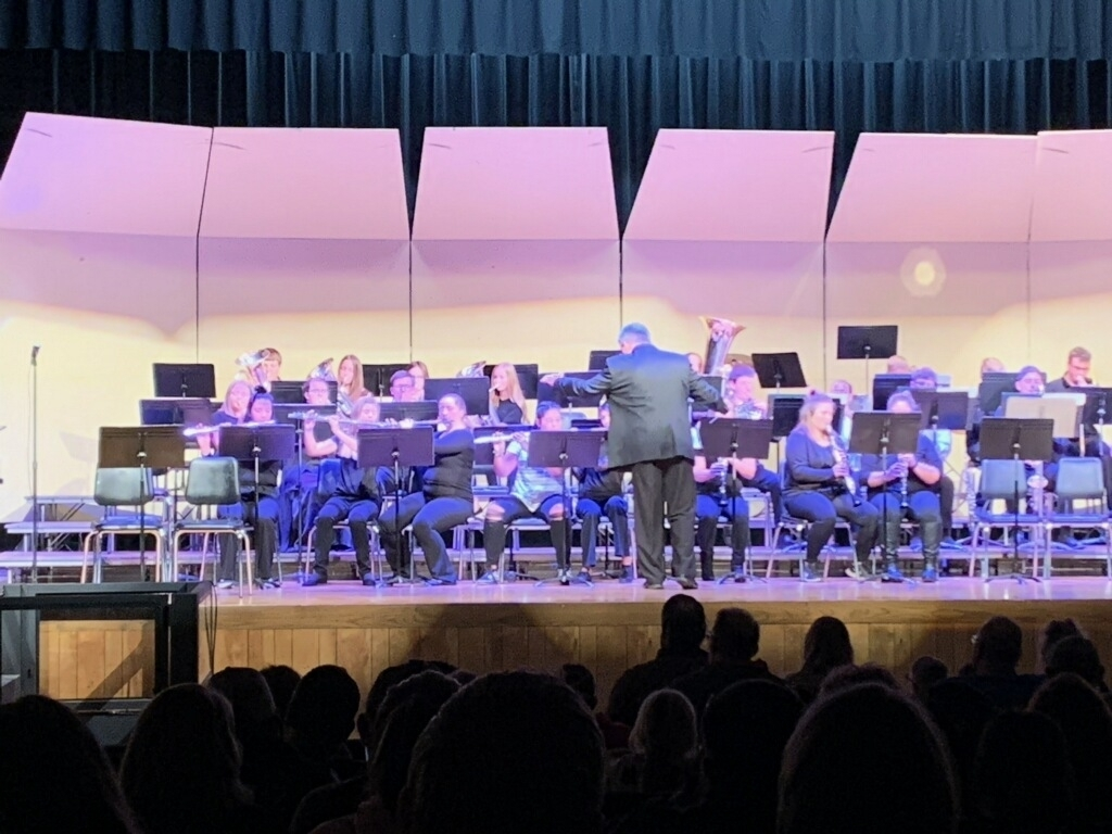 LHS band performs.