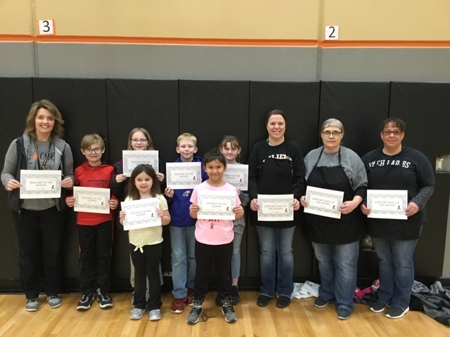 Student & Staff of the Month