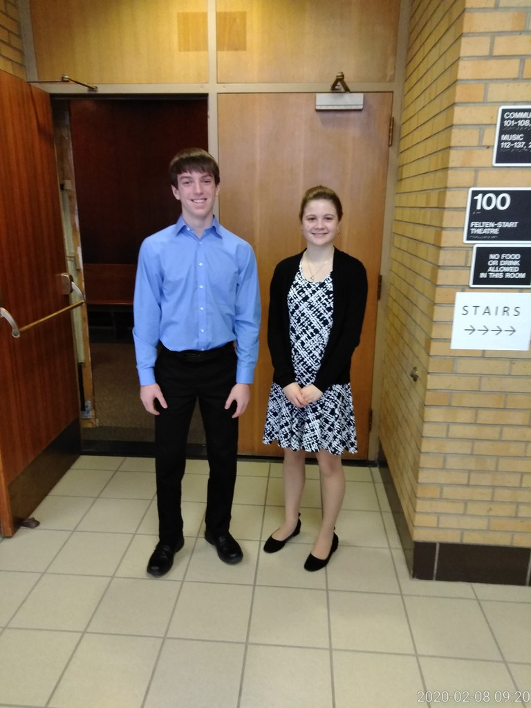 Jacob and Kathryn at regional Piano