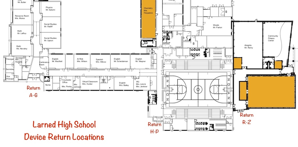 LHS Chromebook drop off location map